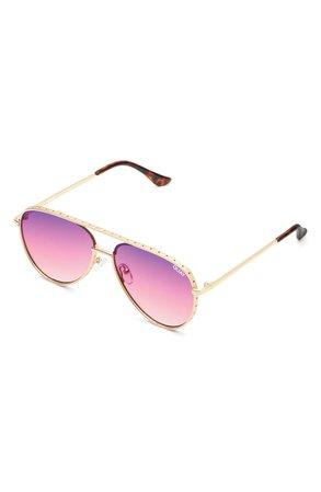 Quay Australia x Lizzo Starry Eyed 52mm Aviator Sunglasses | Nordstrom