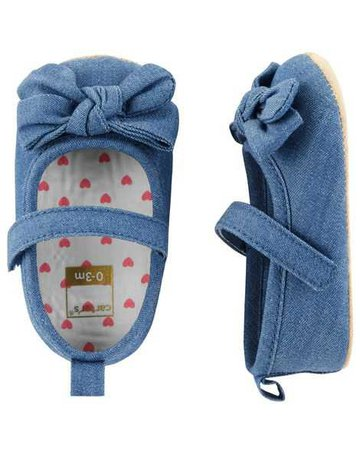 Baby Girl Carter's Chambray Mary Jane Baby Shoes | Carters.com