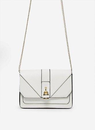 White Padlock Cross Body Bag | Dorothy Perkins