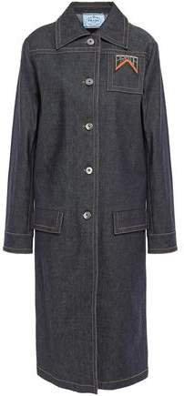 Appliqued Denim Coat