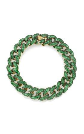Emerald Pave Link Bracelet by Sydney Evan | Moda Operandi