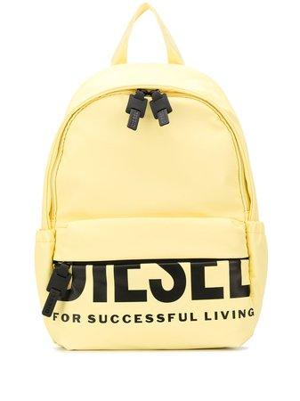 Diesel Logo Print Backpack X06285P3188 Yellow | Farfetch