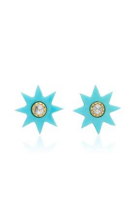 Colette Jewelry Turquoise Starburst Stud Earrings