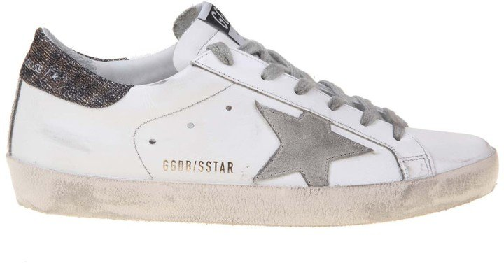 Superstar Sneaker In White Leather