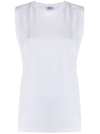 Shop white Brunello Cucinelli basic tank top with Express Delivery - Farfetch
