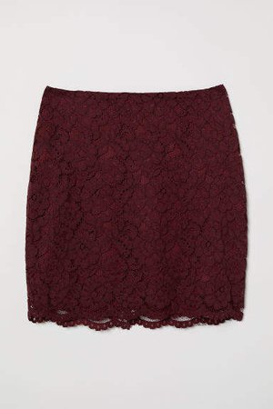 Lace Skirt - Red