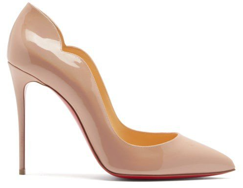 Hot Chick 100 Patent Leather Pumps - Nude Multi