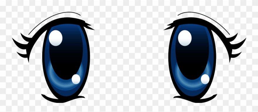 blue anime girl eyes