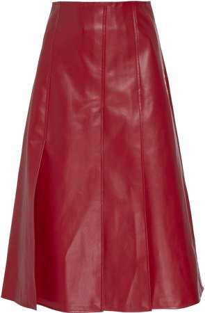 Faux Leather Paneled Skirt