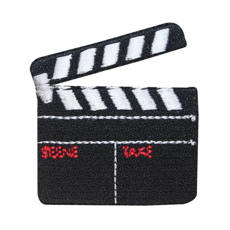 ID 3090 Movie Slate Board Clapper Patch Film Prop Embroidered | Etsy