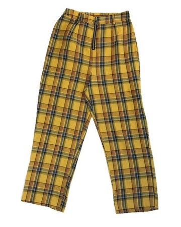 Princess Polly Women's Yellow Plaid High Rise Ankle Bad Behaviour Pants Size 10   eBay