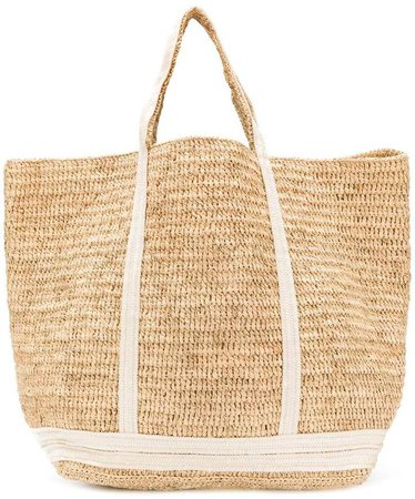 large woven sequin tote