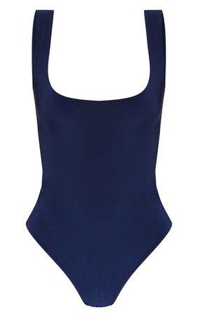 White Second Skin Square Neck Sleeveless Thong Bodysuit | PrettyLittleThing USA