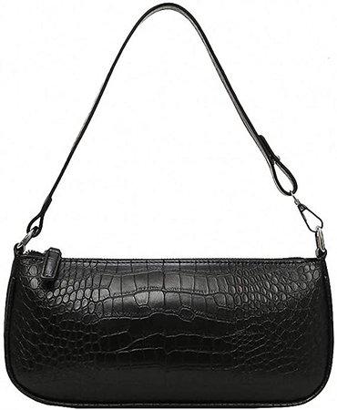 Get The Looks Retro 90's Shoulder Bag As on Kendall Jenner (White - Croc Effect): Handbags: Amazon.com