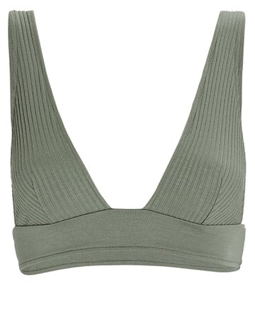 Only Hearts Eco Rib Knit Triangle Bralette   INTERMIX®