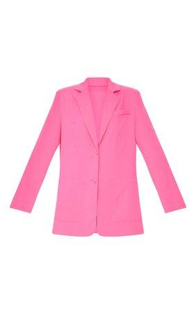Pink Extreme Oversized Blazer | PrettyLittleThing