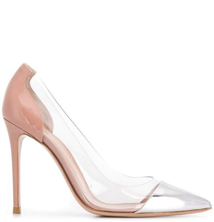 panelled pointed toe pumps