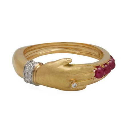 Ruby One Hand Ring, Anthony Lent