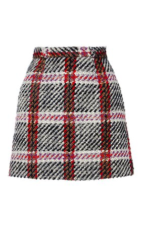Checked Mini Skirt by Carven