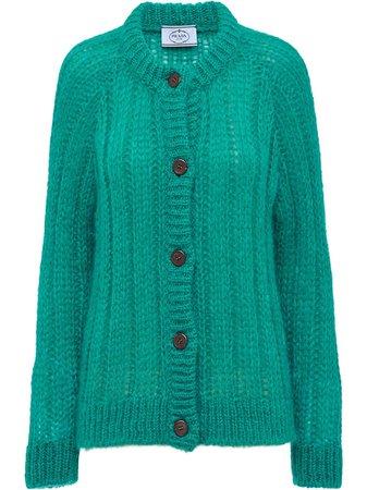 Prada Chunky Knit Cardigan - Farfetch
