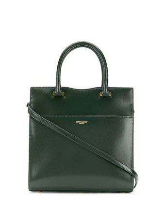 Green Saint Laurent small Uptown tote bag - Farfetch