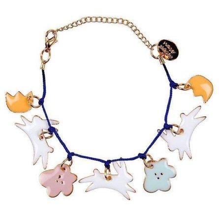 Enamel Bunny Bracelet