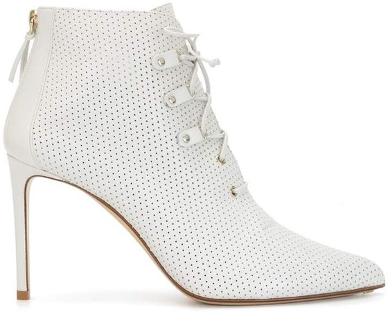 100mm Lace-Up Ankle Boots