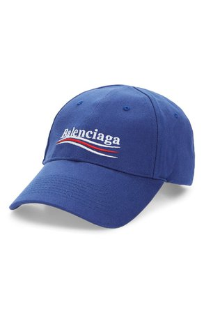 Balenciaga Political Embroidered Logo Baseball Cap | Nordstrom