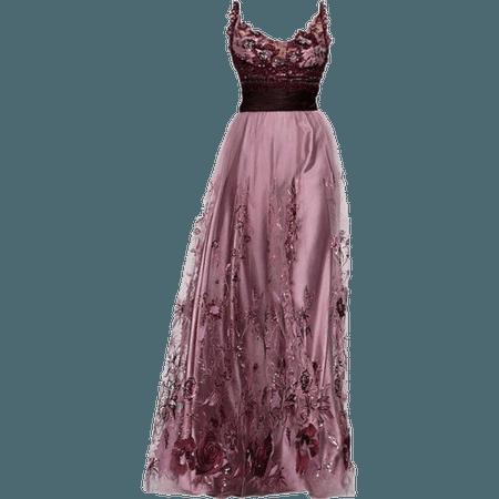 Dark Purple Couture Gown