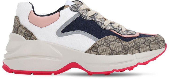 50mm Rhyton Gg Cotton Canvas Sneakers