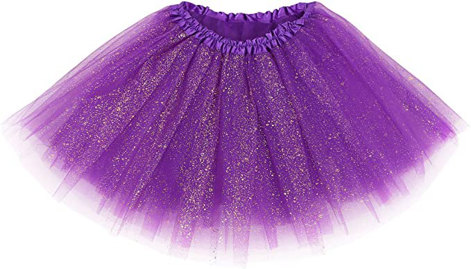Simplicity Women's Classic Elastic 3 Layered Petticoat Tulle Tutu Skirt, Rose at Amazon Women's Clothing store