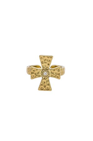 The Hammered Cross Signet Ring