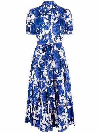 Shop DVF Diane von Furstenberg floral-print shirt dress with Express Delivery - FARFETCH