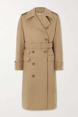Wool Trench Coat - Beige