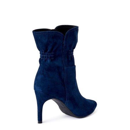 Scoop - Scoop Women's Blair Scrunch Stiletto Heeled Booties - Walmart.com - Walmart.com