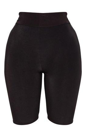 Shape Black Slinky bike Shorts | PrettyLittleThing USA