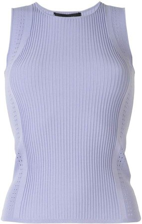 Sleeveless Perforated Tank Top