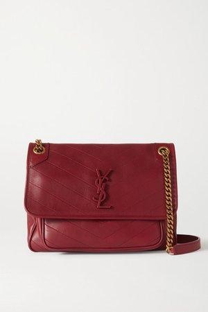 Niki Medium Quilted Leather Shoulder Bag - Red