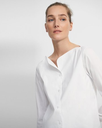 Boatneck Shirt in Good Cotton