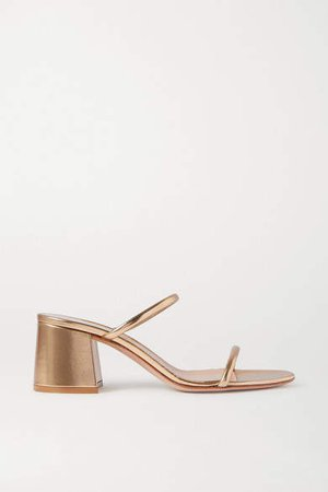 60 Metallic Leather Sandals - Gold