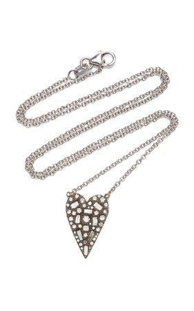 Sylva & Cie 18K White Gold and Diamond Necklace