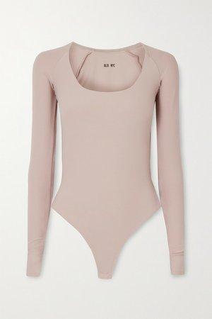 Sullivan Stretch-jersey Thong Bodysuit - Gray