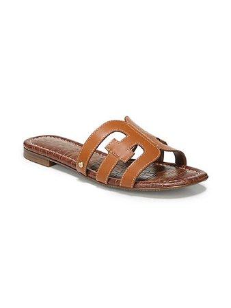 Sam Edelman Bay Flat Leather Sandals | SaksFifthAvenue