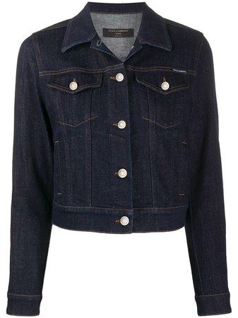 Dolce & Gabbana Cropped Buttoned Denim Jacket - Farfetch