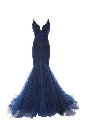 Tulle Mermaid Gown by Zac Posen | Moda Operandi