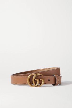 Light brown Leather belt   Gucci   NET-A-PORTER