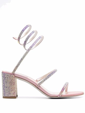 René Caovilla Cleo crystal-wrap Sandals - Farfetch