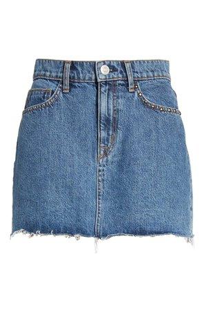 Hudson Jeans The Viper Cutoff Denim Miniskirt | Nordstrom