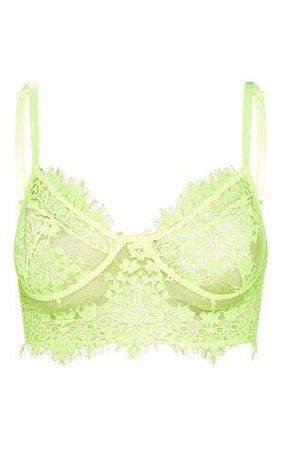 PLT green lace bralette top