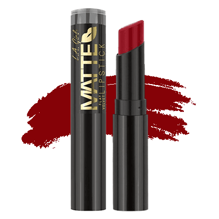LA Girl Matte Flat Velvet Lipstick - Relentless   Makeup.co.nz